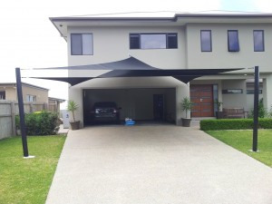Double Shade Sails for extra car protection in Upper Coomera