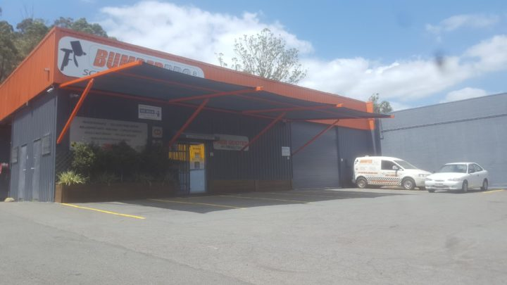 Cantilevered Shade Structure for Client Car Parking at Bumper Pro, Burleigh Heads