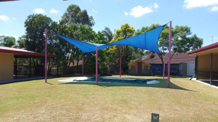 Shade Sails over playground at St Brigid's Primary School, Nerang
