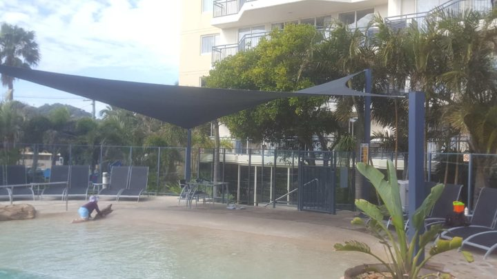 Shade Sails over the Pool Area at Mantra Coolangatta